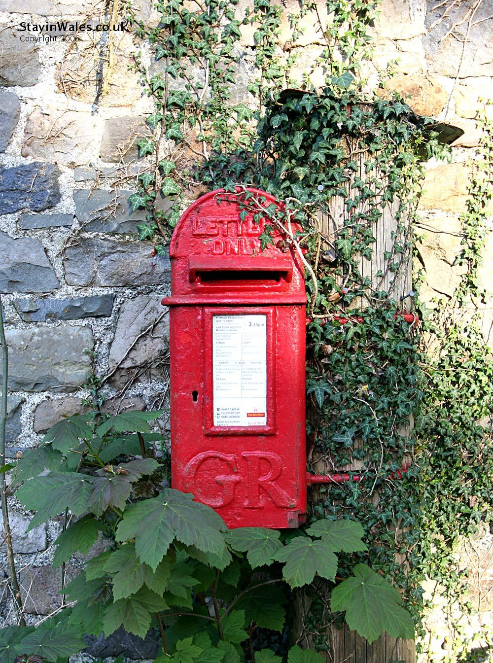 Postbox at Rhandirmwyn