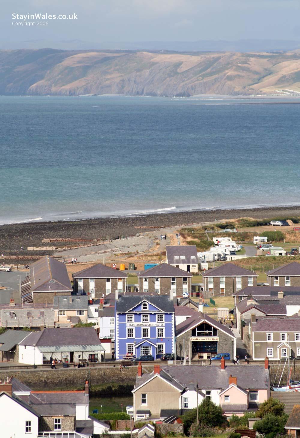 Aberaeron harbour and beyond