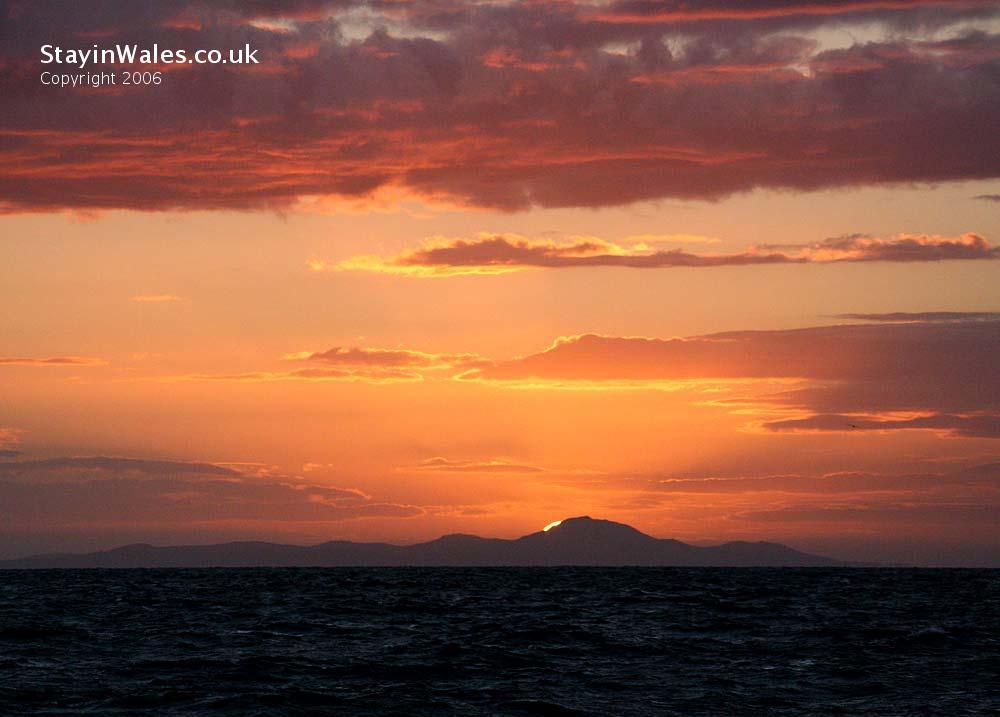 Sunset over Carn Fadryn