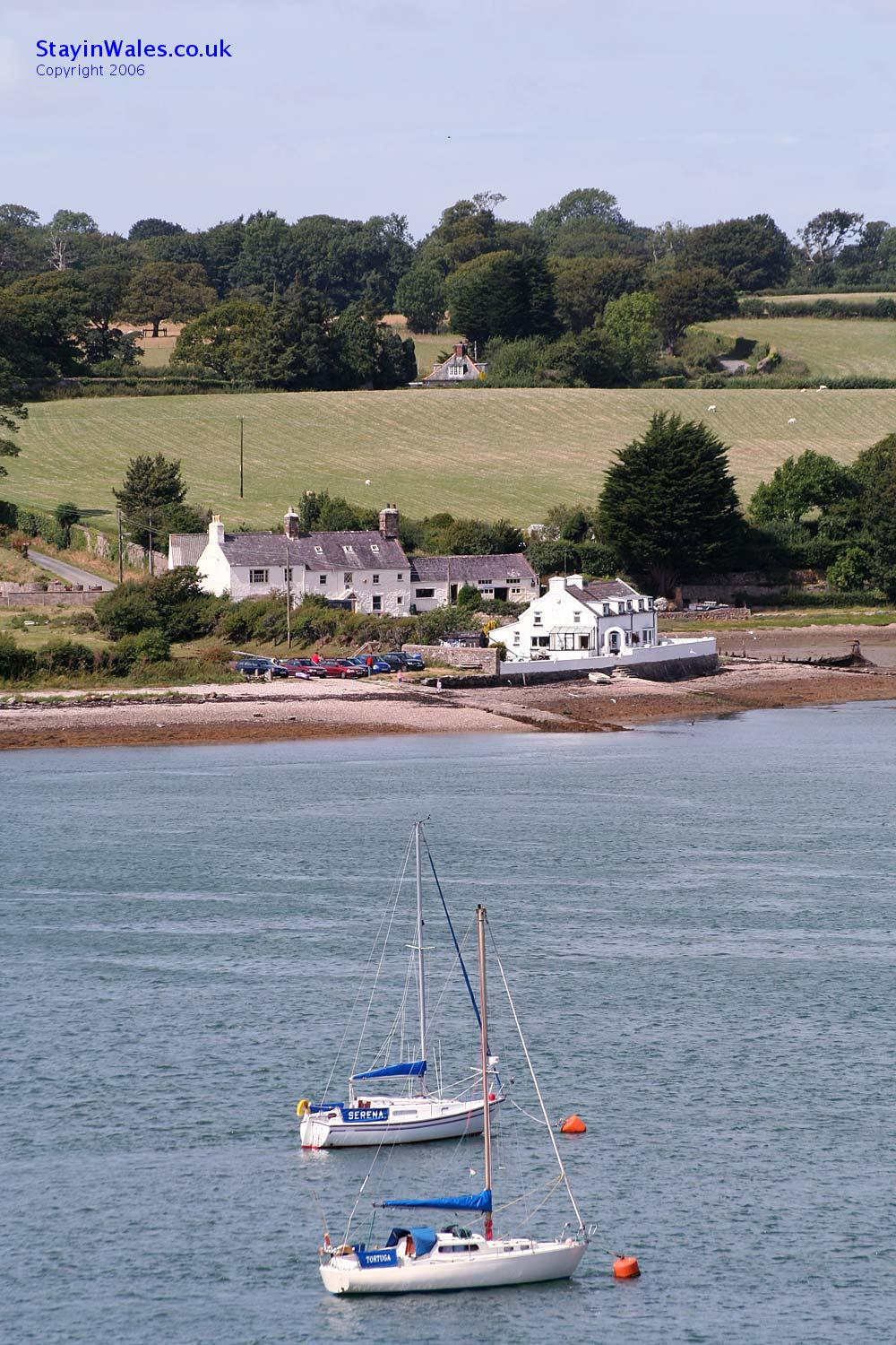 Y Felinheli view of Anglesey