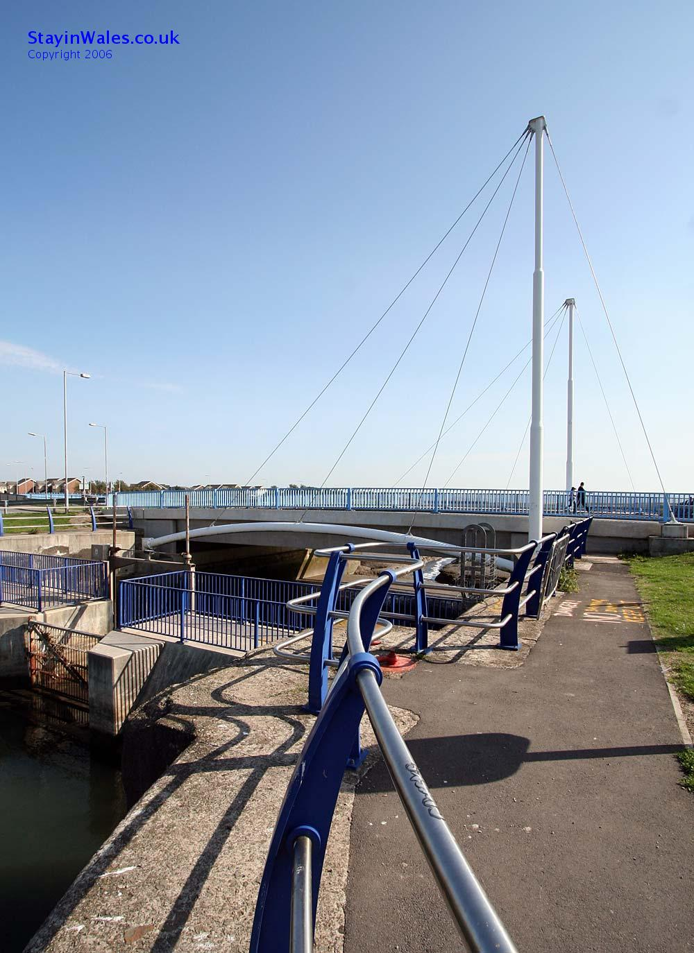 North Dock bridge at Llanelli