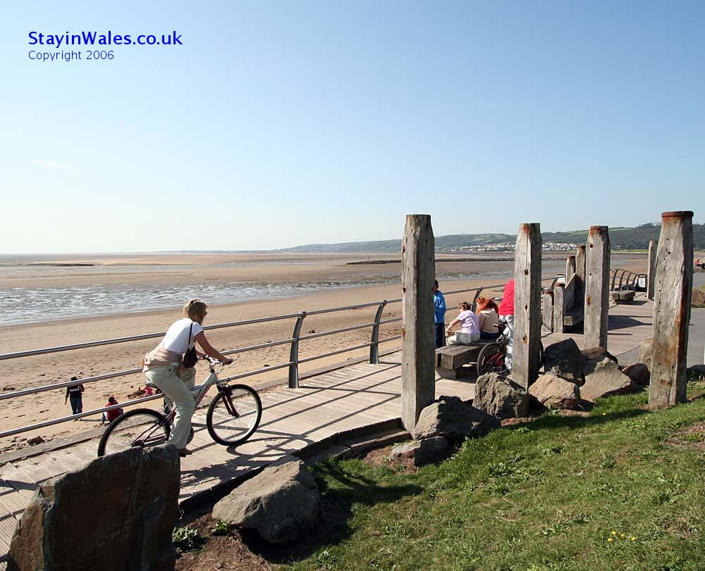 Coastal cycle path Llanelli