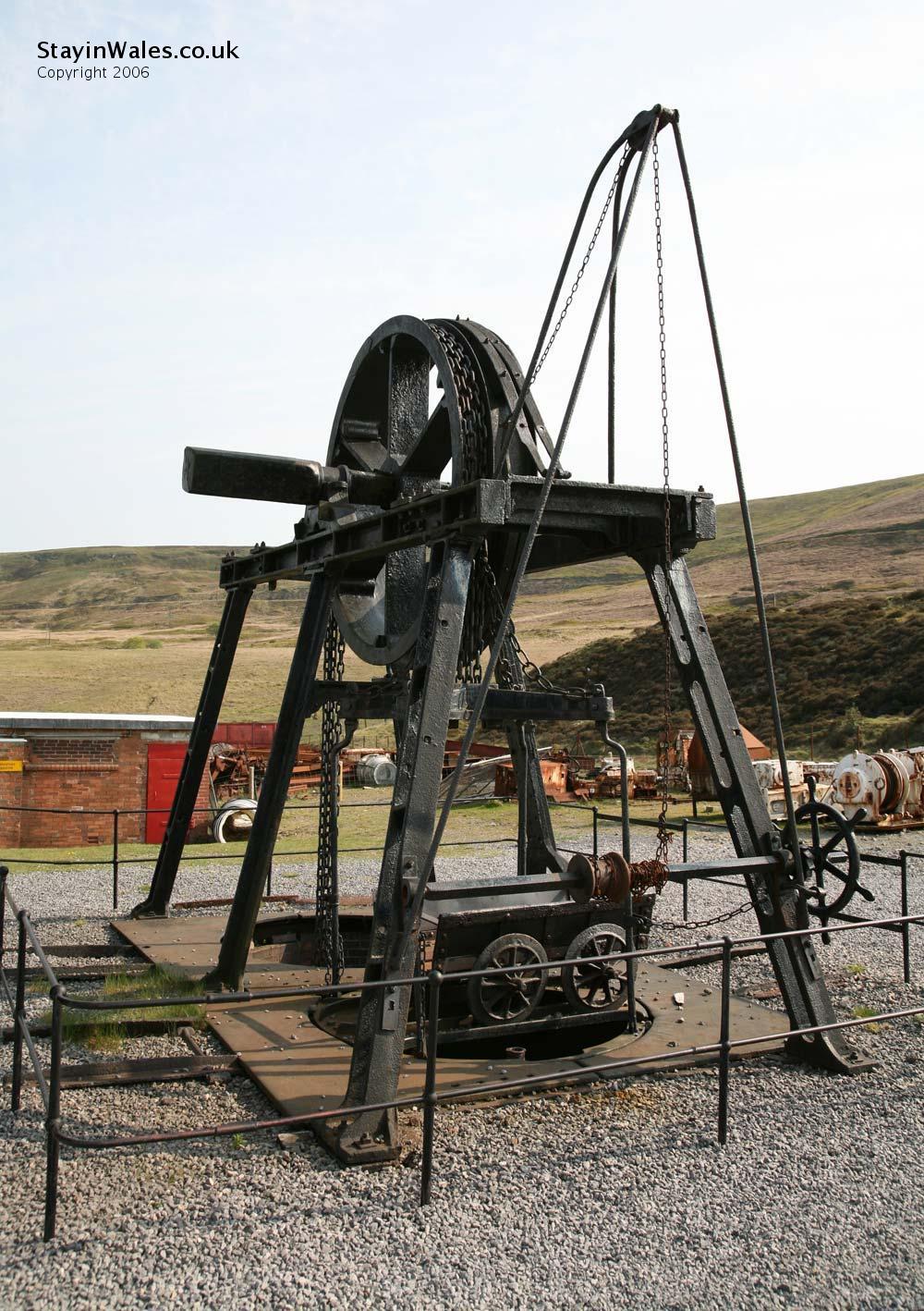 Water balance pit winding wheel