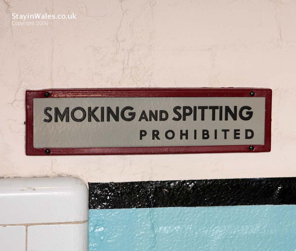 No smoking or spitting