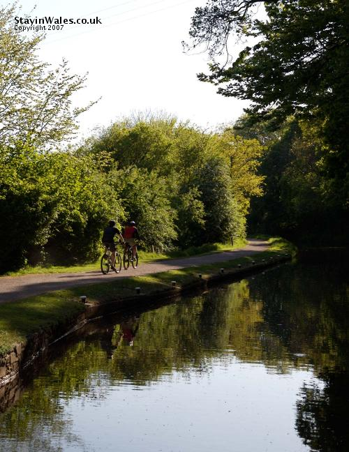 Cycling canal towpath