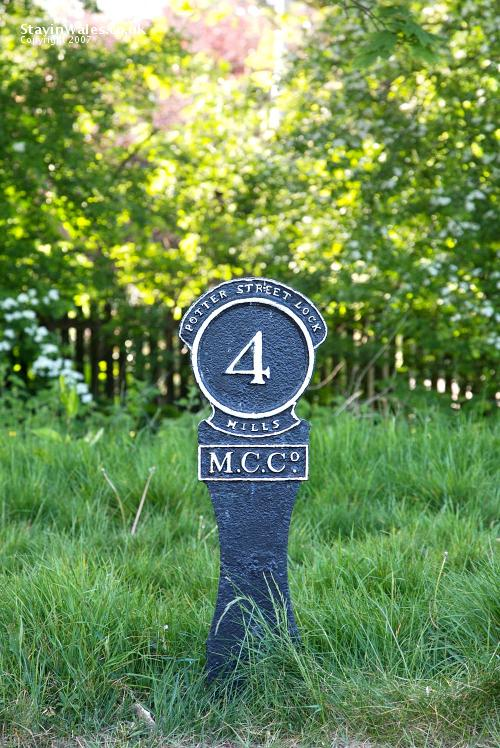 Canal mile marker Newport