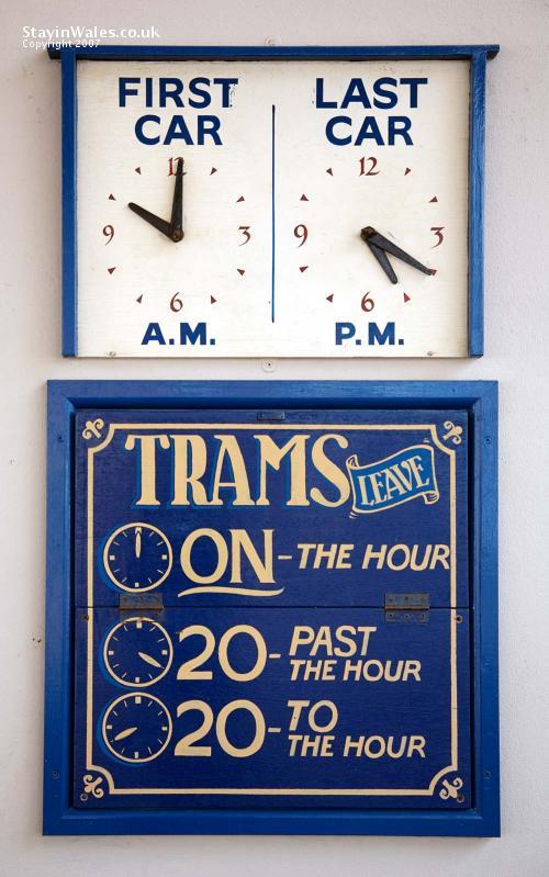 Llandudno Tram Timetable