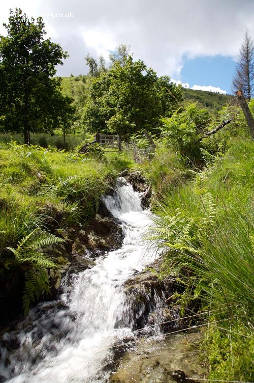 Mountain stream Aberwgesyn