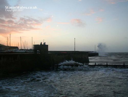 Stormy sea at Aberaeron