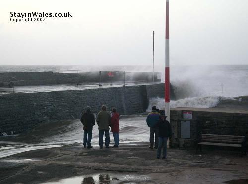 Sea storm at Aberaeron