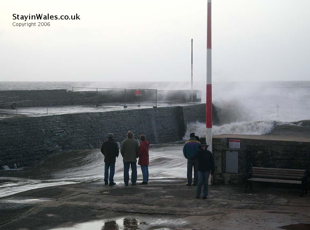 Sea storm at Aberaeron