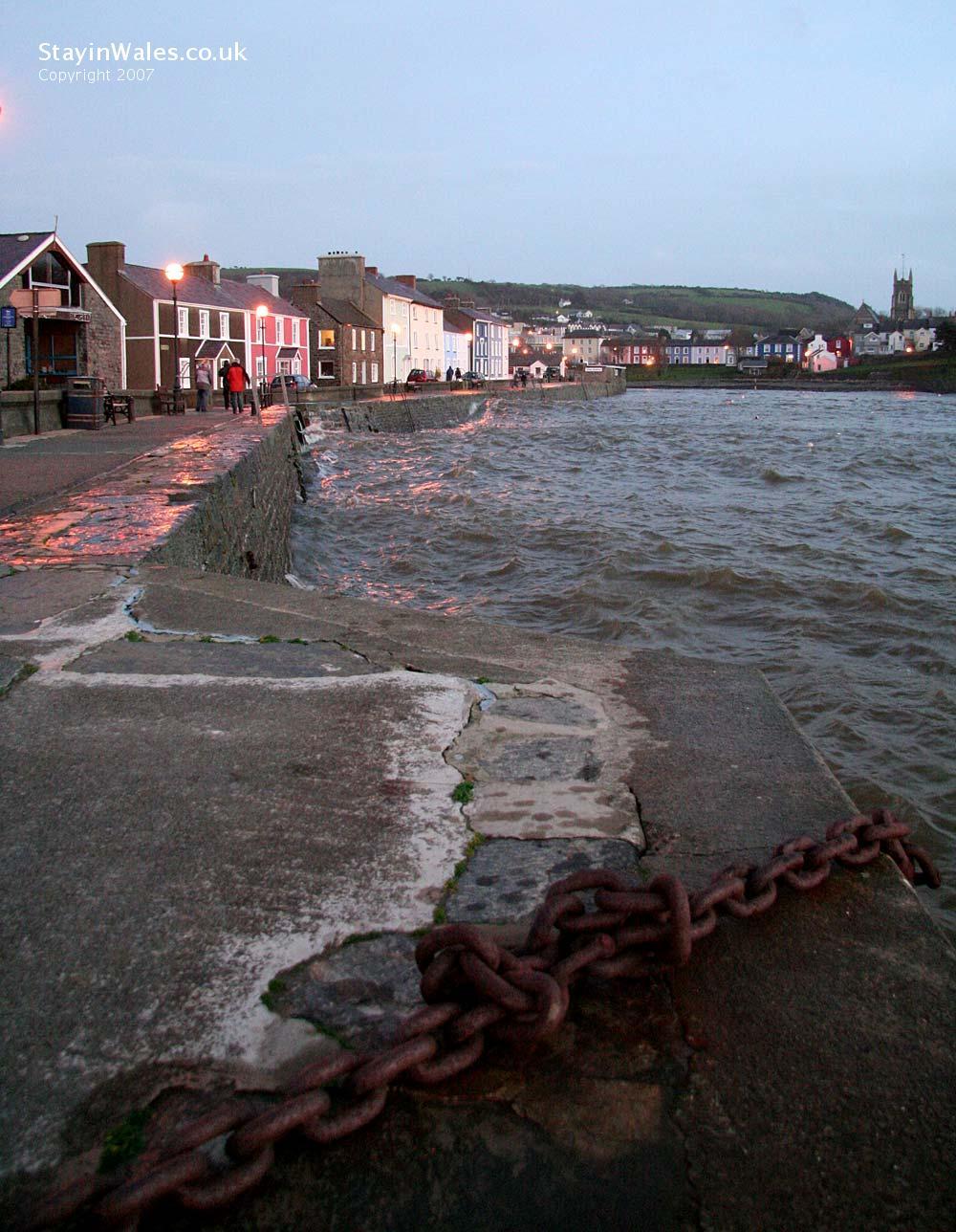 Winter high tide at Aberaeron