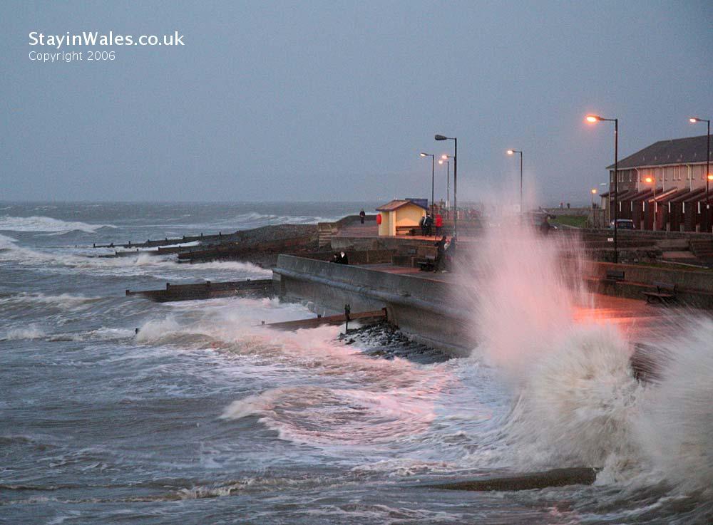 High tide at Aberaeron