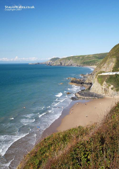 Ceredigion coast at Tresaith