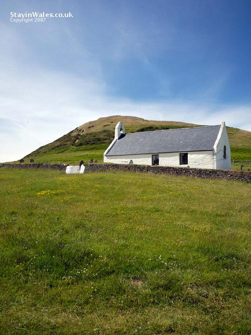 Mwnt church and Foel y Mwnt