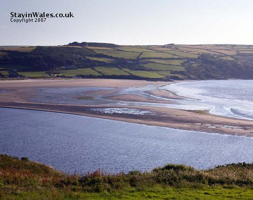 Low tide at Poppit Sands