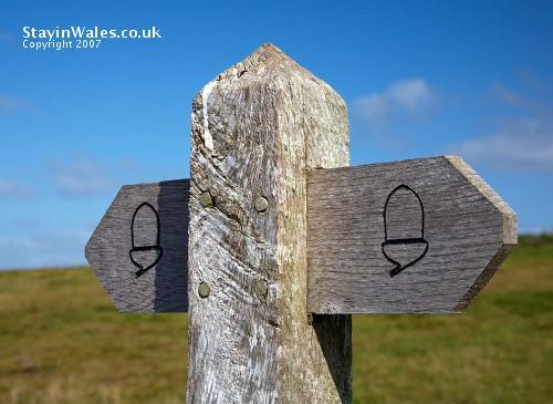 Pembrokeshire coastal path waymarker
