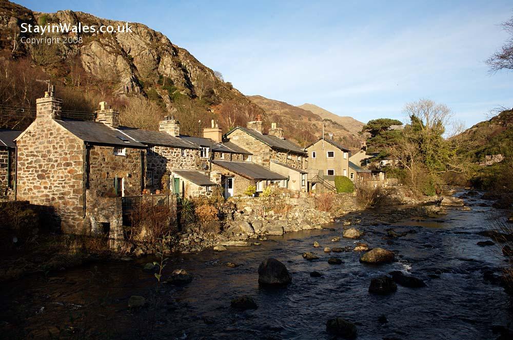 Riverside cottages at Beddgelert