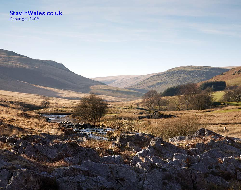 Cambrian Mountains and Claerwen Valley