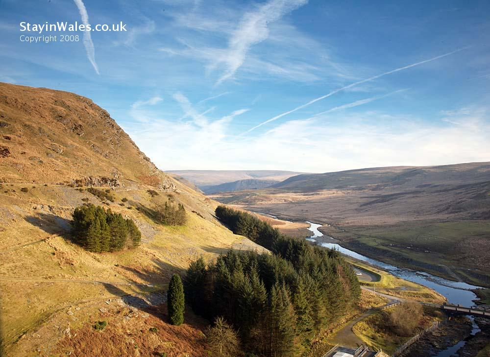 View from Claerwen Dam, Mid Wales