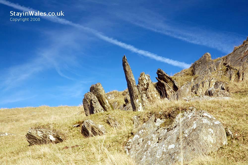 Upland rocks in the Elan Valley