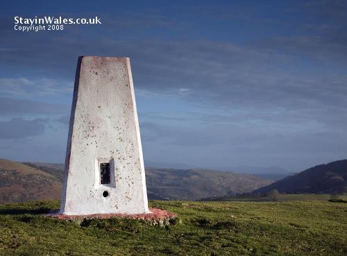 Trig point TP3323, Garth Hill at Builth Wells