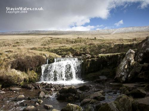 Waterfall at Pont ar Daf, Storey Arms