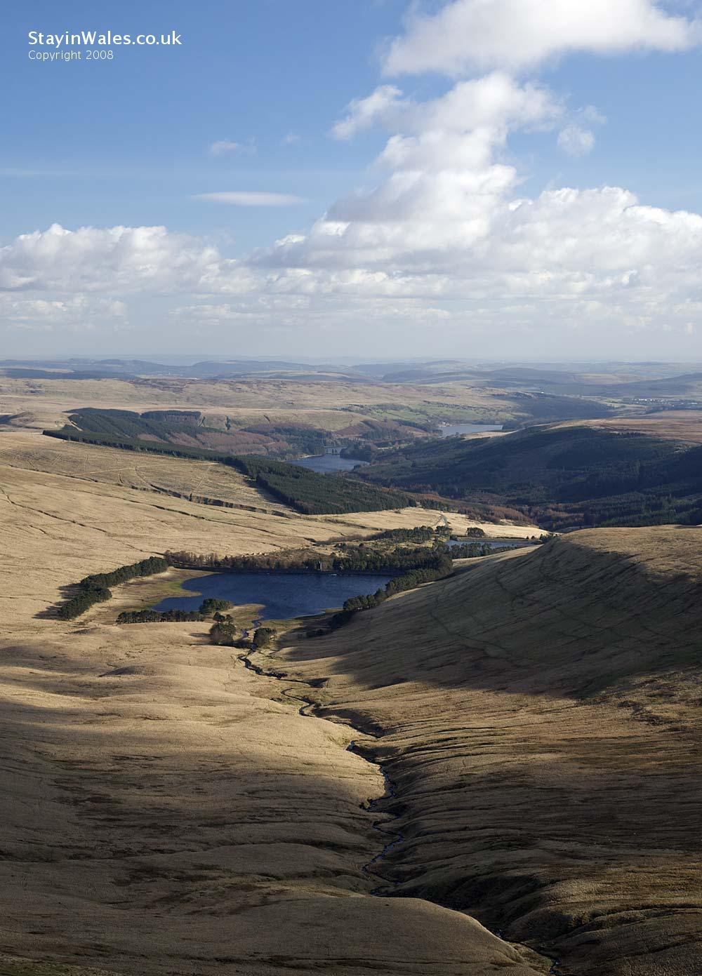 Reservoirs in the Brecon Beacons