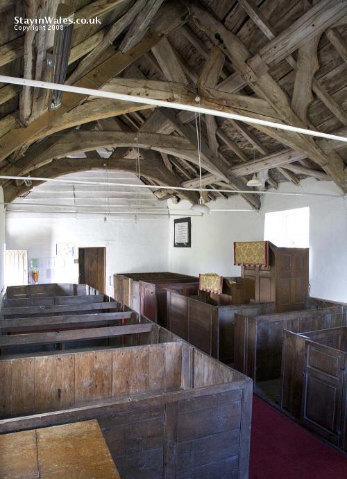 Llanfihangel Helygen church interior