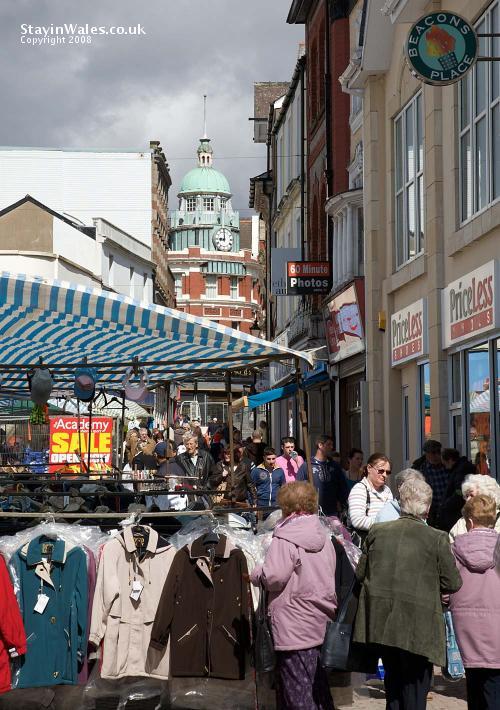 Market day in Merthyr Tydfil