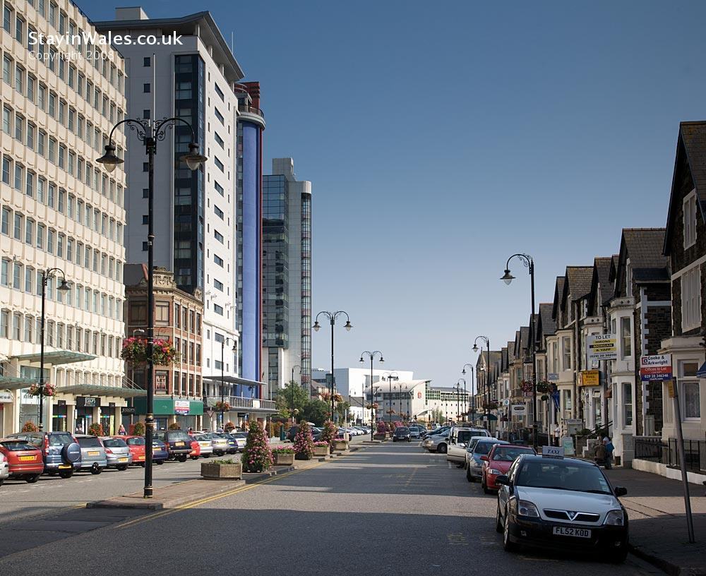 Charles Street in central Cardiff