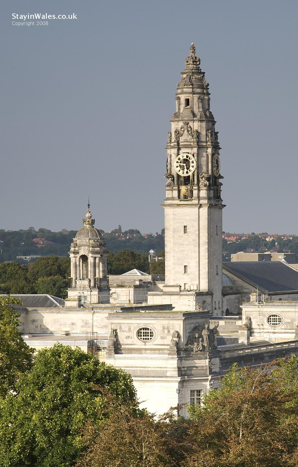City Hall clocktower, Cardiff