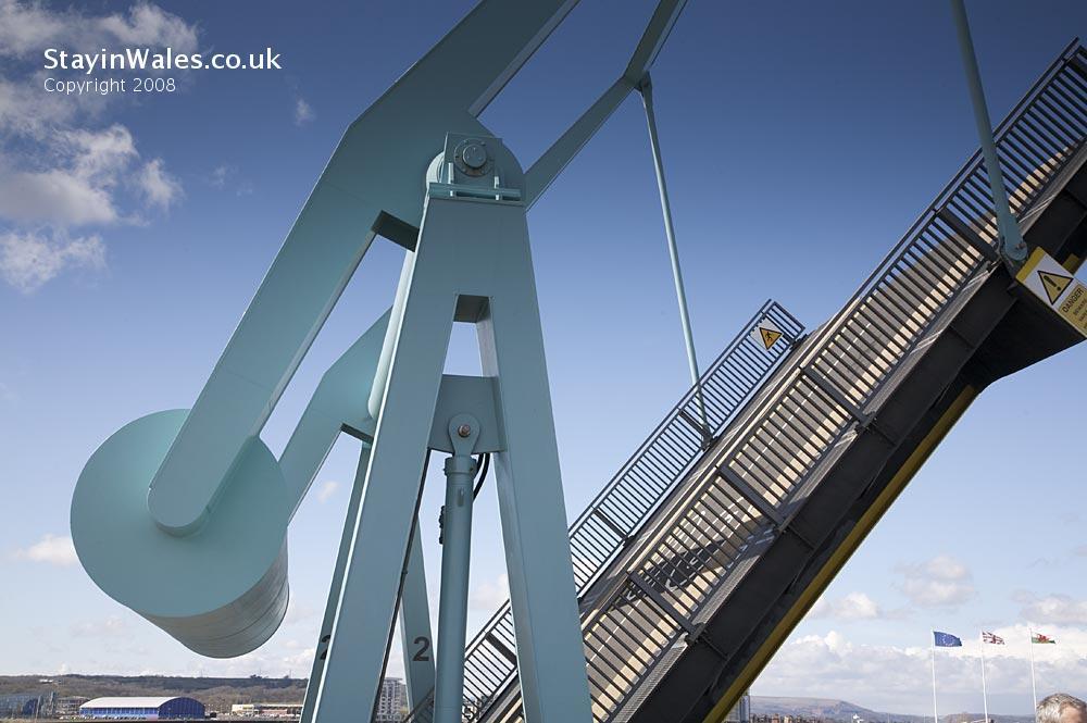 Bascule Bridge at Cardiff Bay Barrage
