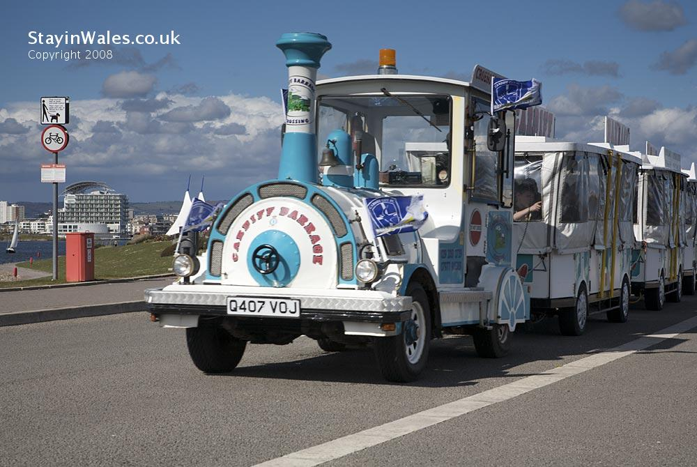 Cardiff Bay Road Train at the Barrage