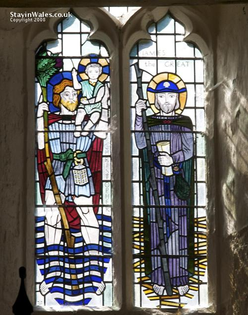 Stained Glass window at Penallt Old Church