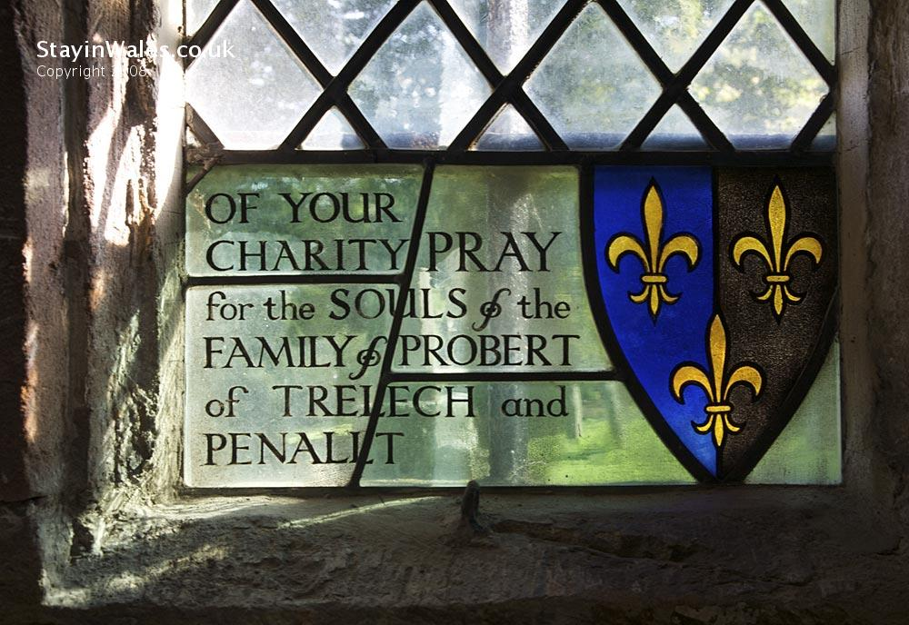 Probert window in Penallt Old Church, Wye Valley
