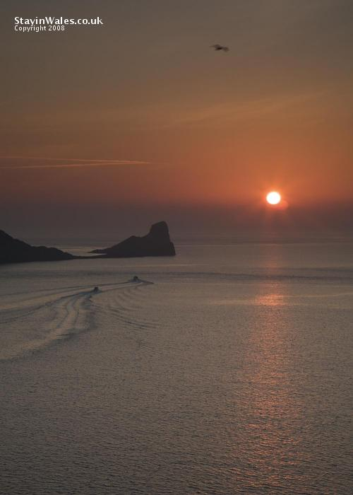 Sunset at Worm's Head, Rhossili Bay