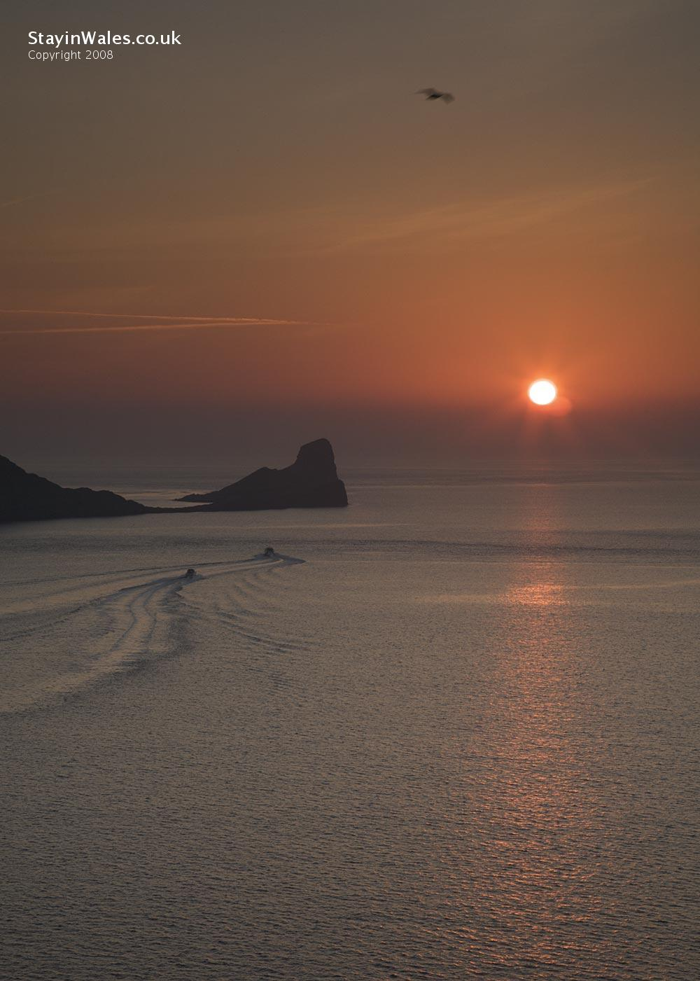 Sunset at Worm's Head, Rhossili Bay