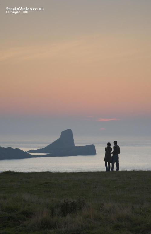 Sunset at Worm's Head