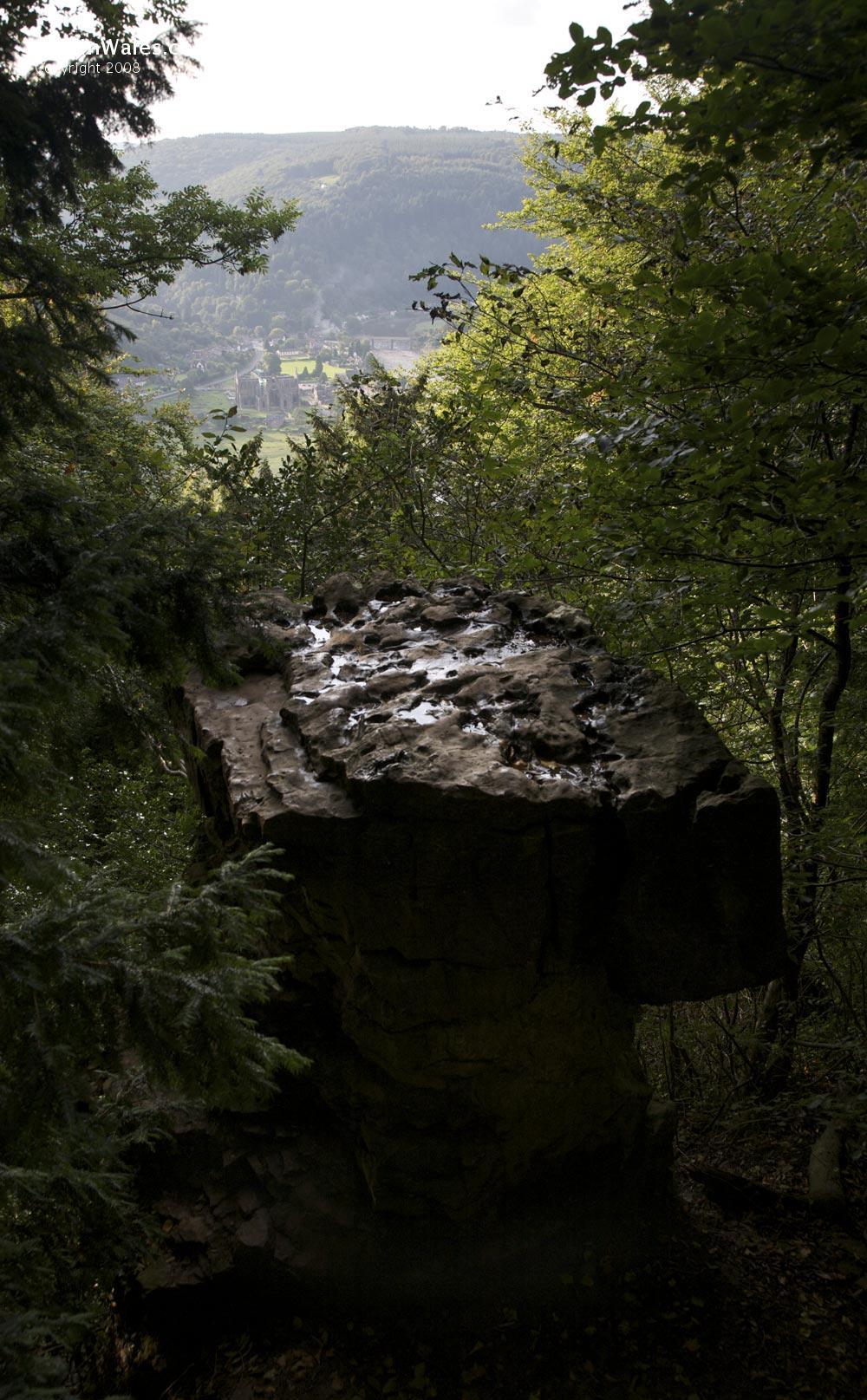 Devil's Pulpit above the Wye Valley near Tintern