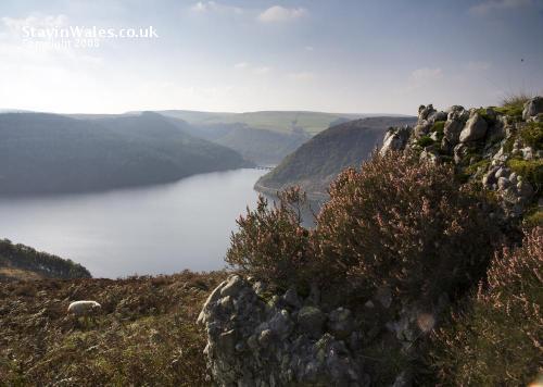 Caban Coch reservoir seen from Craig Cnwch