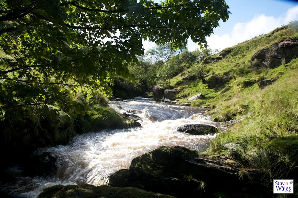 The River Irfon near Abergwesyn is ever-changing