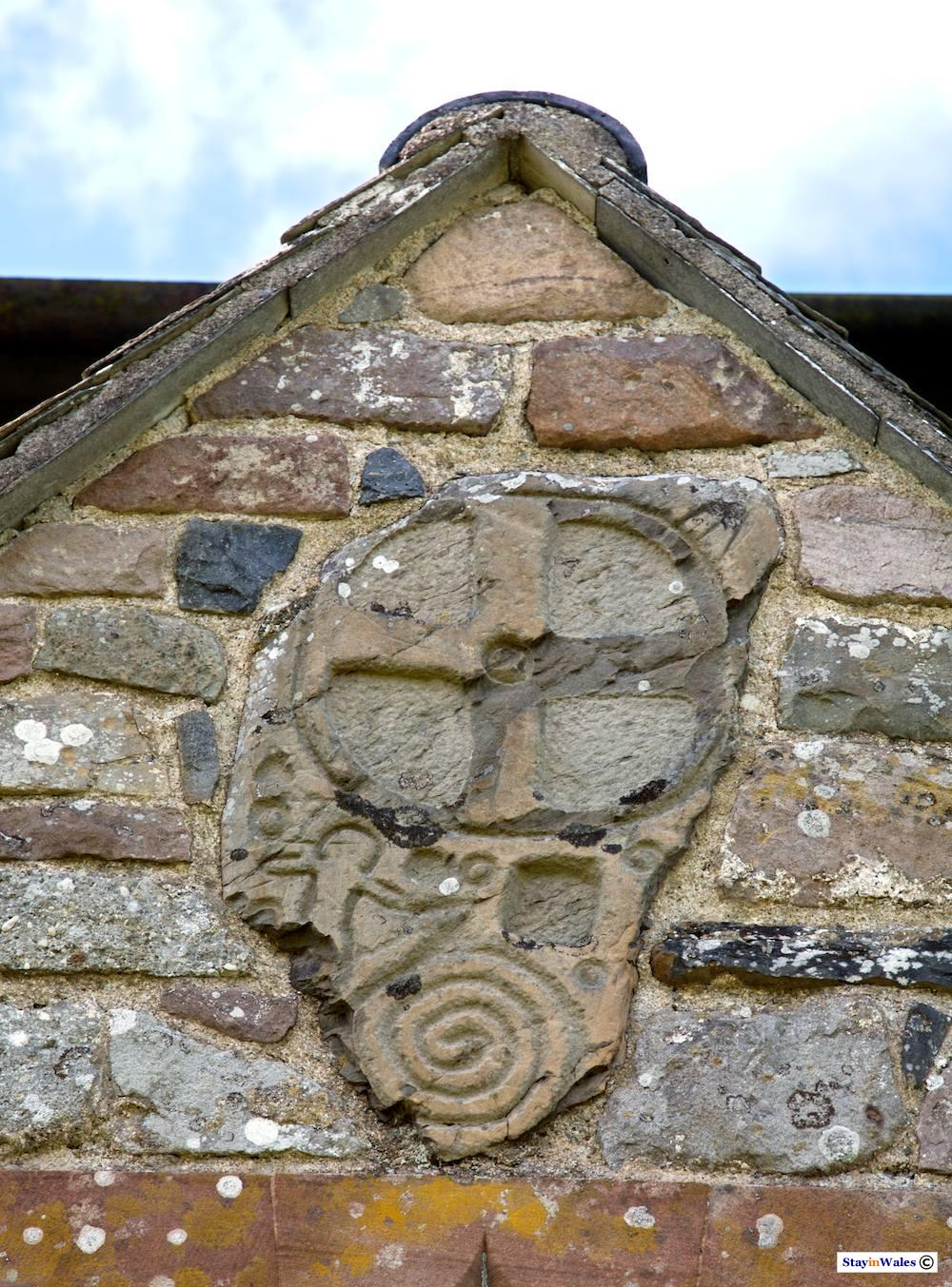 Ancient Carved Stone, Llangammarch church