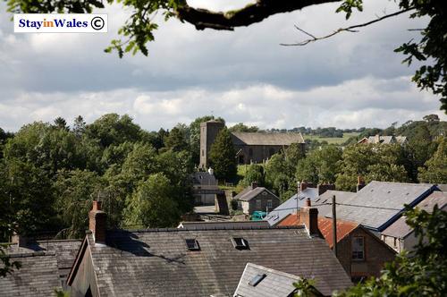 View across Llangammarch Wells
