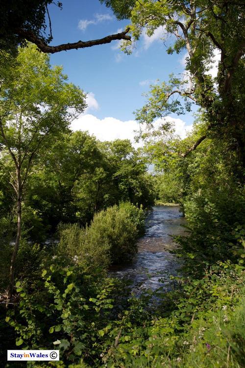 River Irfon at Llangammarch Wells, Powys