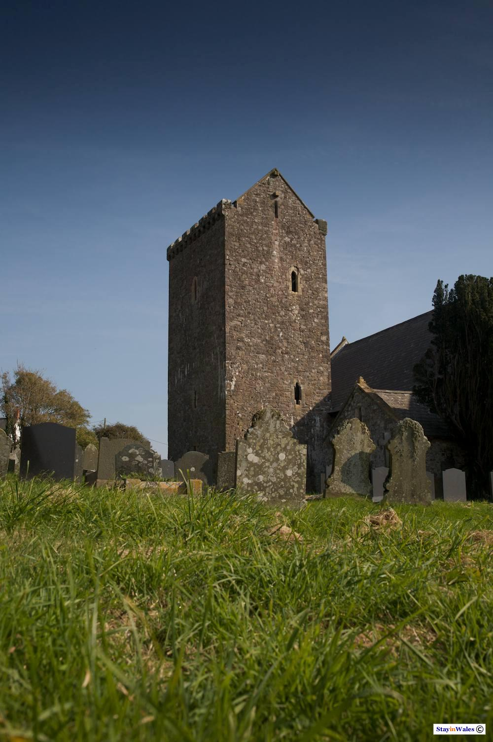 Church of Saint Cenydd at Llangennith on the Gower