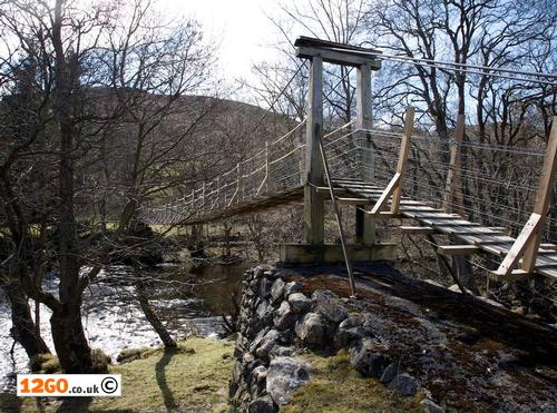 Suspension footbridge near Rhayader