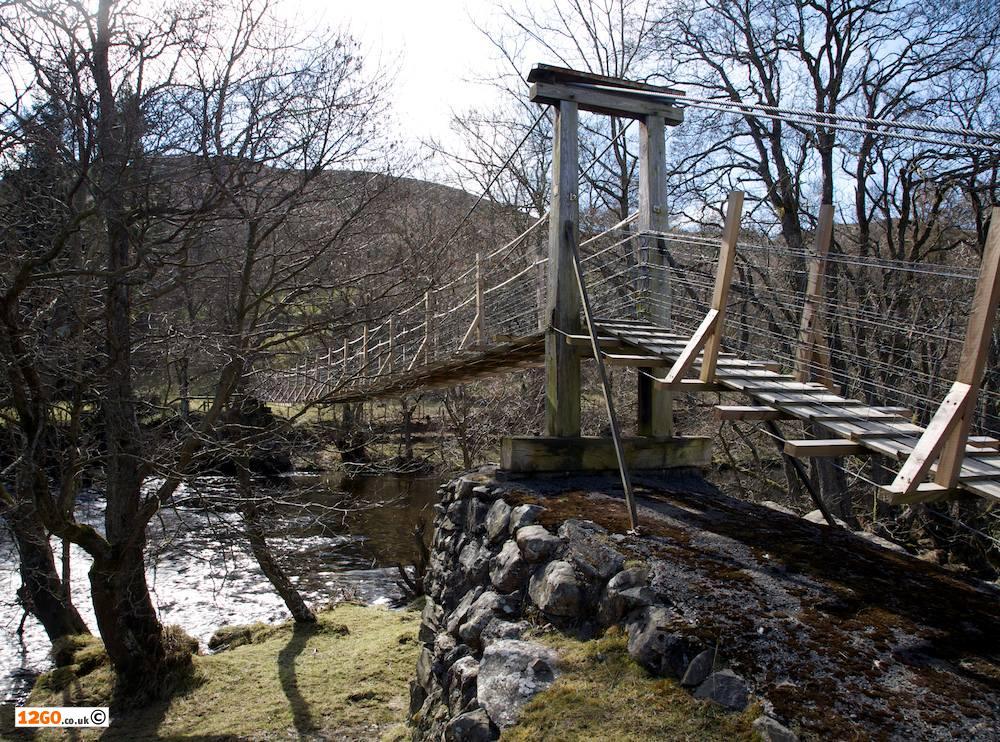 Suspension footbridge near Rhayader