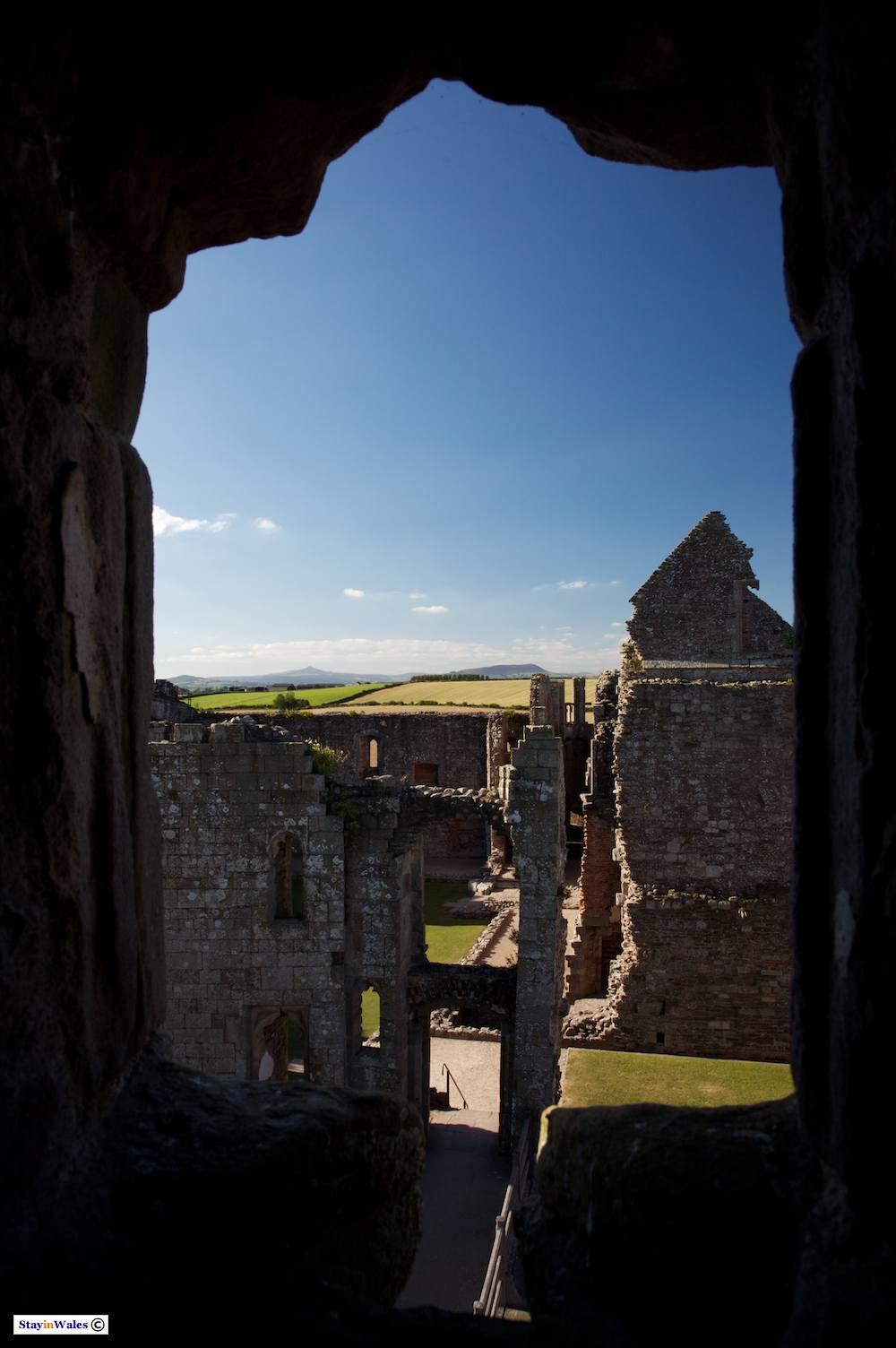 The hall and chapel of Raglan Castle