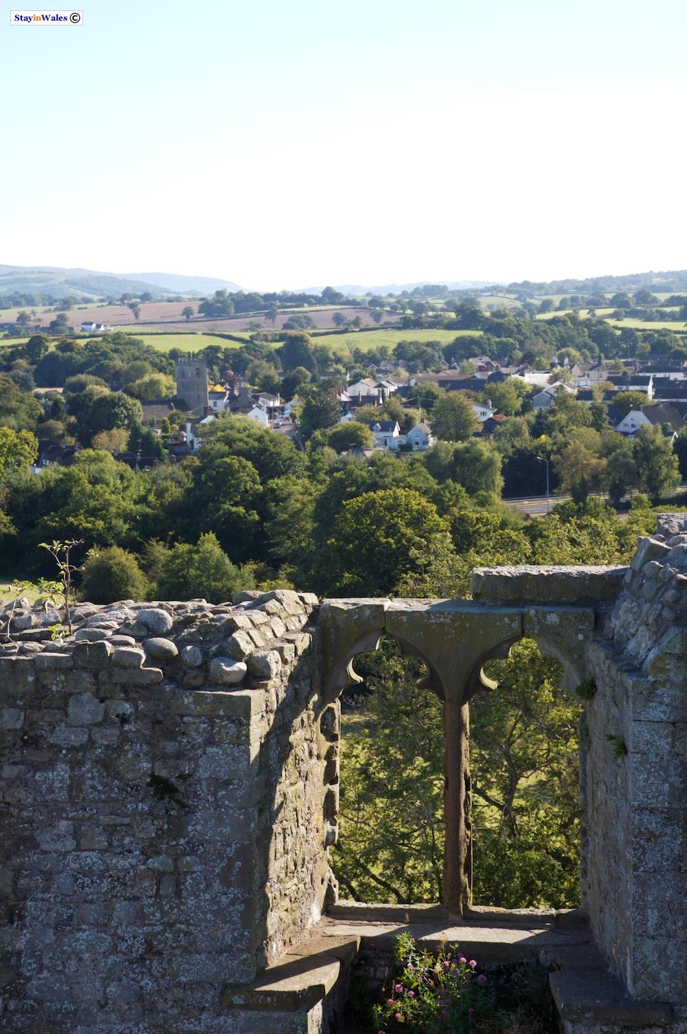 View over Raglan from castle